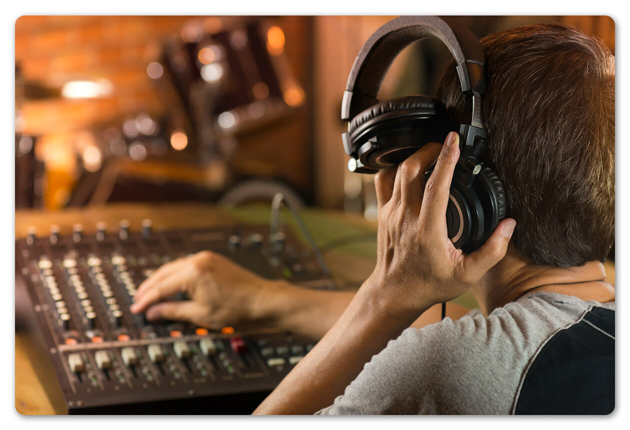 headphones recording studio