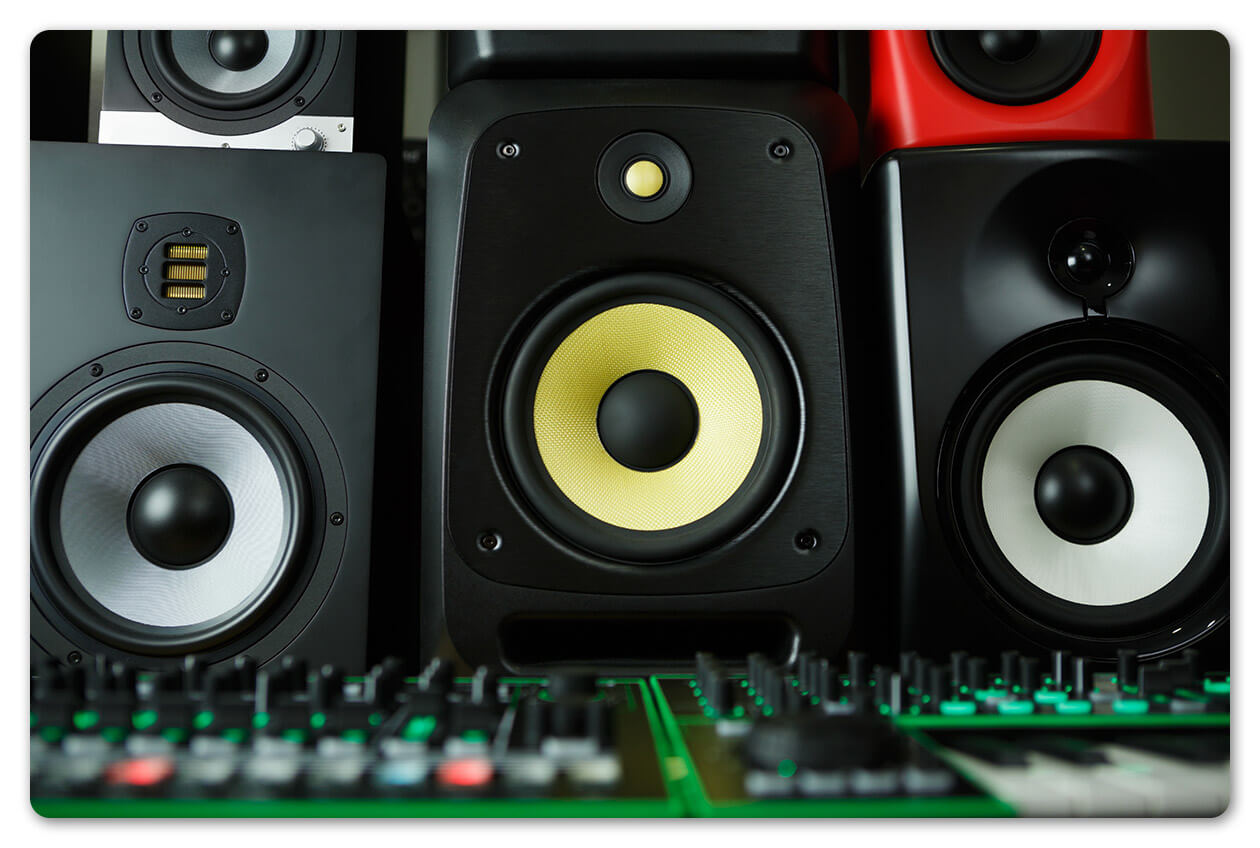 recording studio monitors