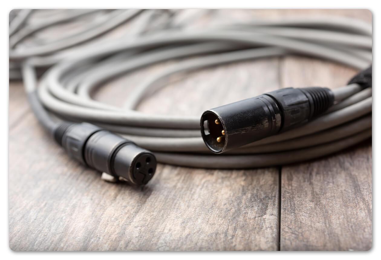 cables recording studio