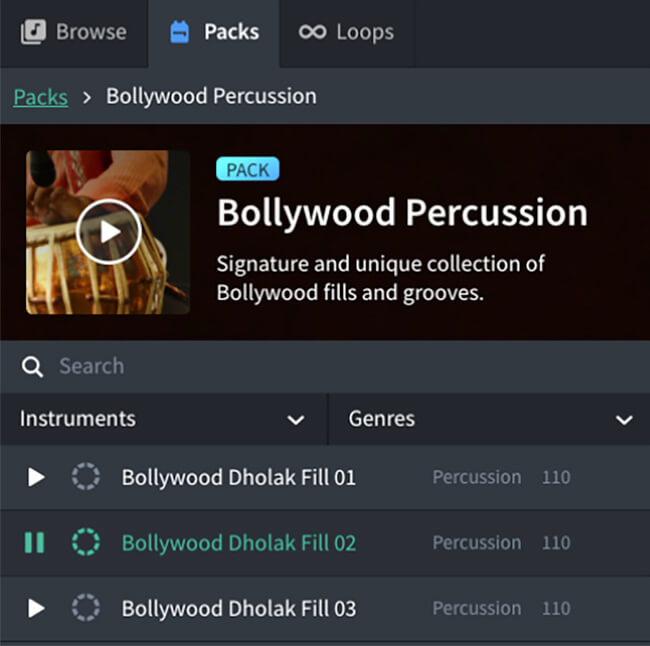 Bollywood Percussion Loop Pack