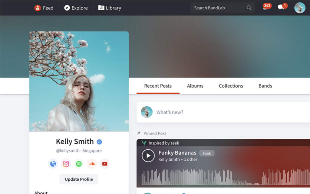 New social features on BandLab