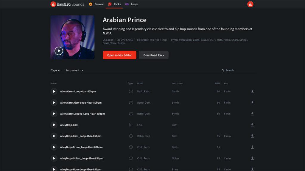 Arabian Prince Loop Pack on BandLab Sounds