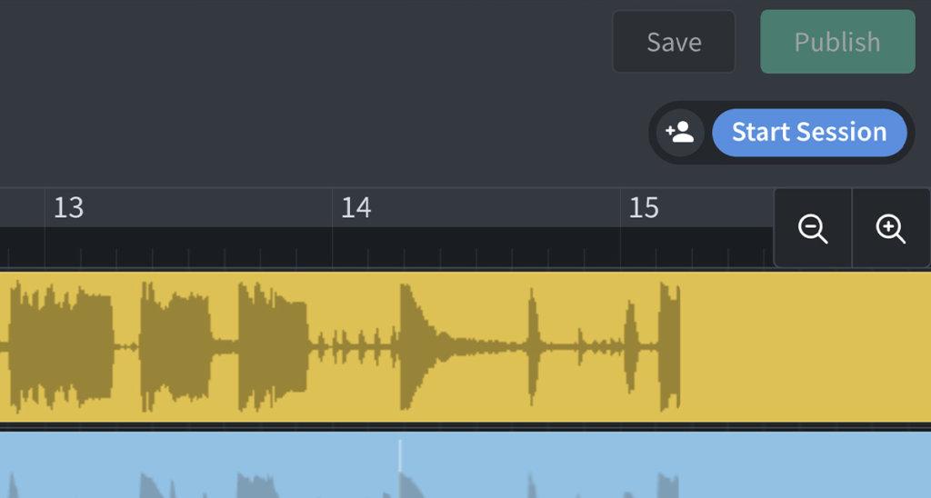 BandLab web Mix Editor. Live Session Collaboration