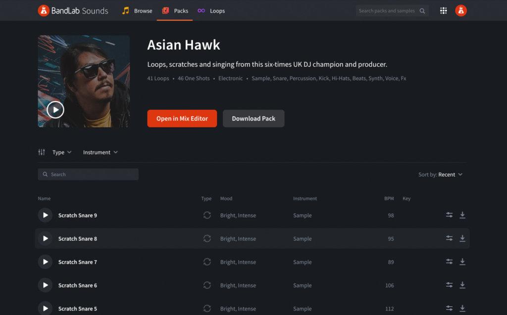 Asian Hawk Loop Pack on BandLab Sounds