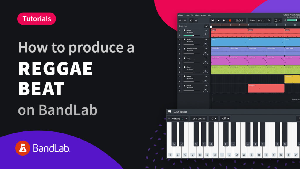 BandLab how to produce a reggae track on BandLab web Mix Editor