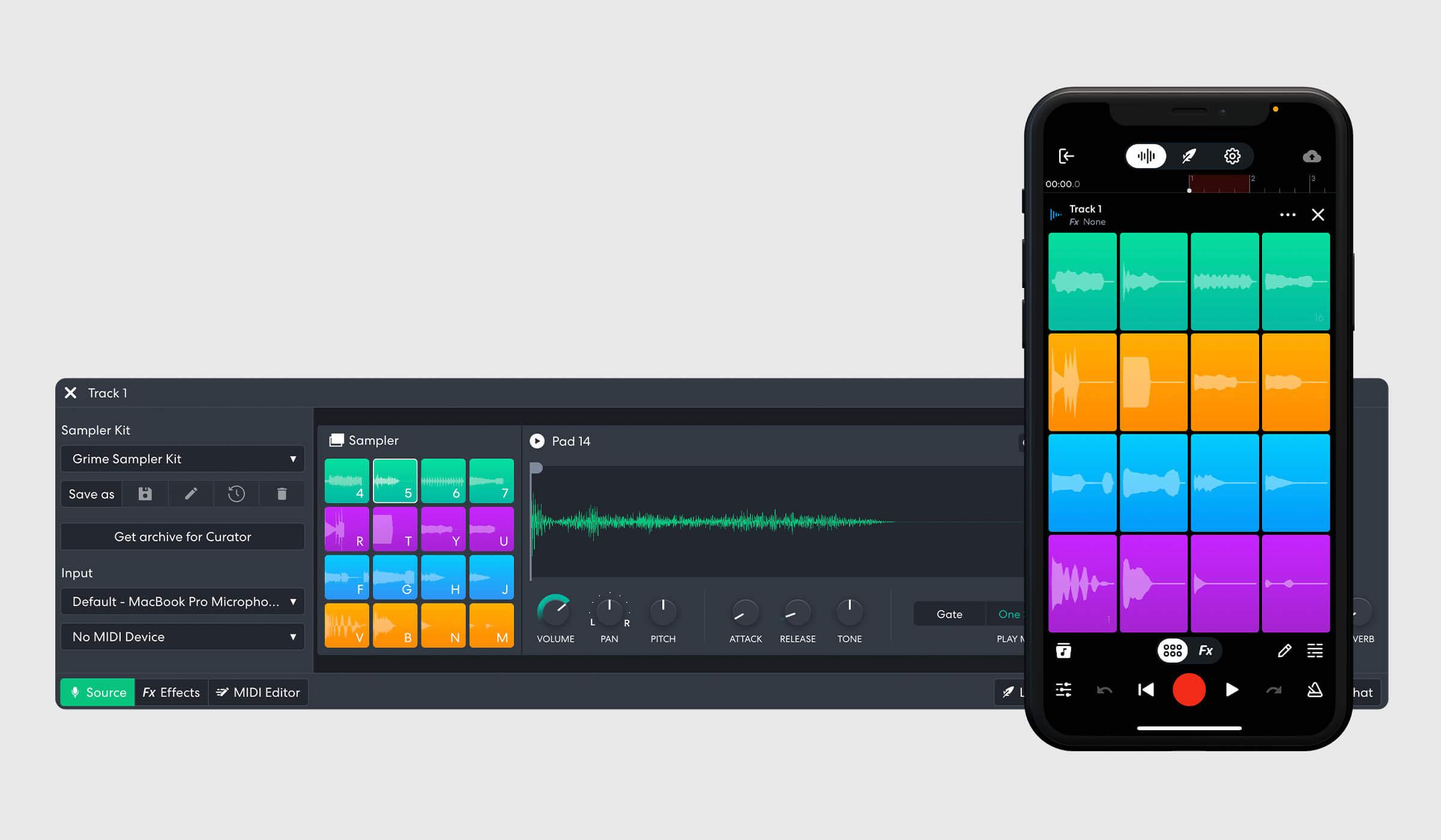 BandLab Sampler on web and mobile