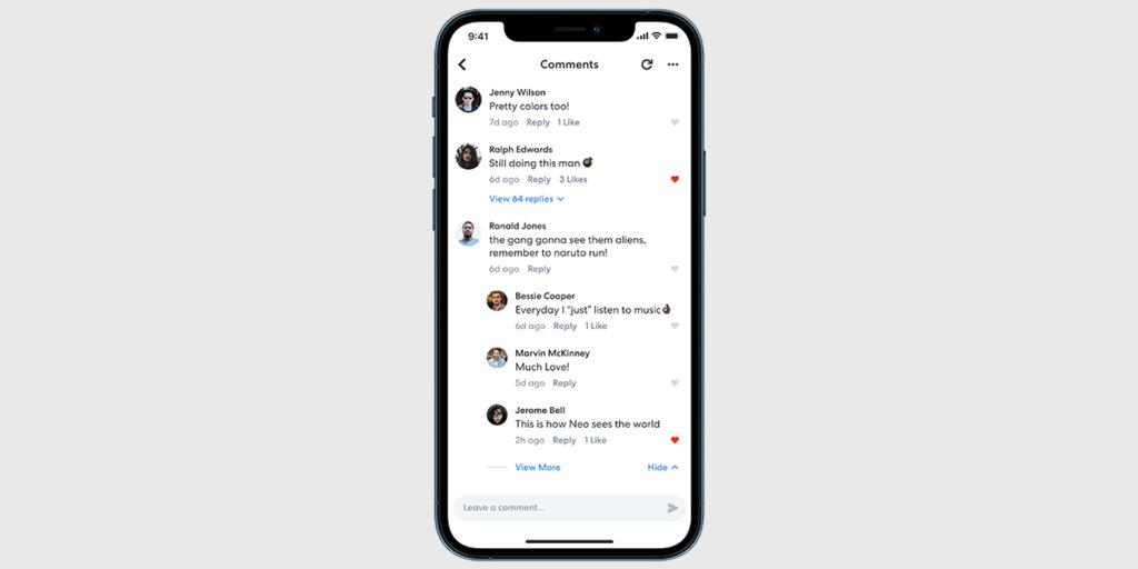Nested replies on BandLab mobile app