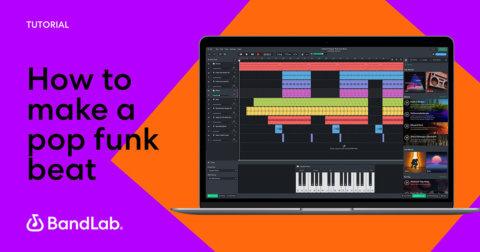How to make a pop funk beat on BandLab free online Mix Editor