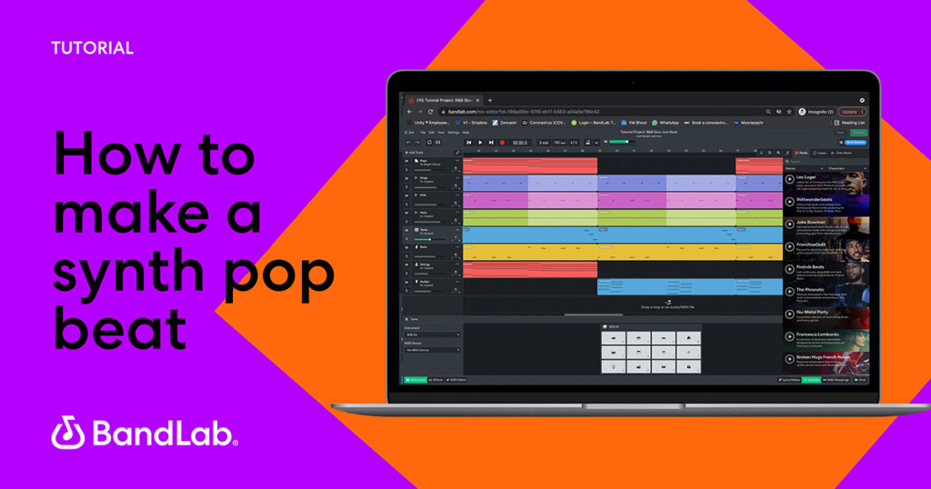 How to make a synth pop beat on BandLab web Mix Editor